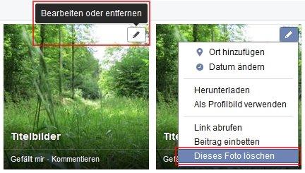 Facebook Fotos löschen Alternativer Weg
