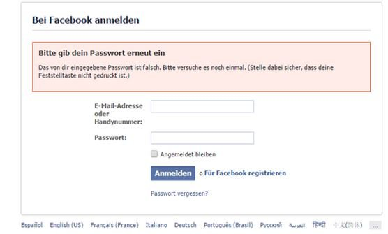 Facebook Login Fake