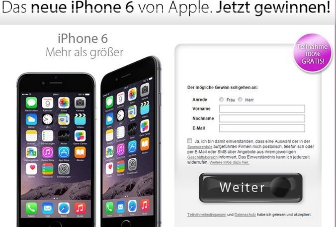 Facebook iPhone gewinnen