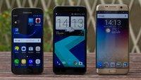 HTC 10 vs. Samsung Galaxy S7 im Video-Vergleich: Duell der Flaggschiffe