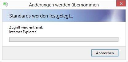 Internet Explorer deaktivieren Änderungen werden übernommen
