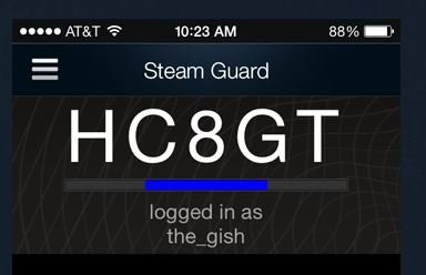 Steam Mobile Authenticator Code