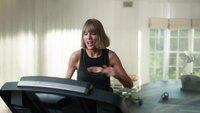 Taylor Swift hört Apple Music, läuft und... fällt