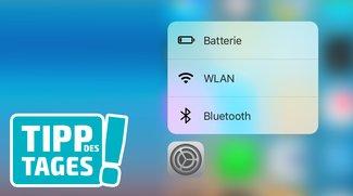 Tipp: Schnellzugriff auf WLAN, Bluetooth und Batterie am iPhone nutzen