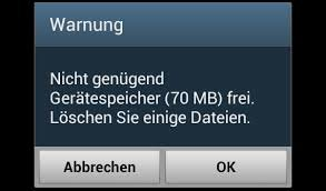 android-speicher-voll