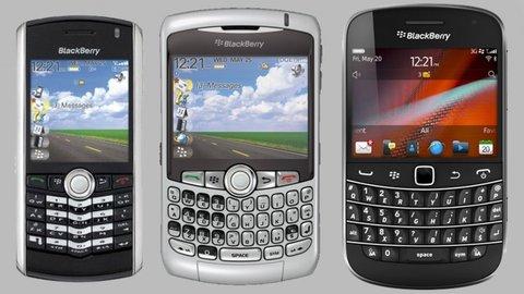 Blackberry Pearl, Curve und Bold