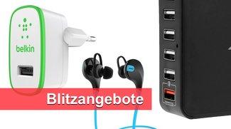 Blitzangebote: USB-Ladegerät und externer Akku mit Quick Charge 2.0, Bluetooth-Kopfhörer u.v.m. heute günstiger