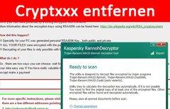 Cryptxxx-Trojaner entfernen...