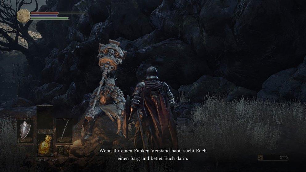 Oberste Regel bei jedem NPC: Solange mit ihnen reden, bis sich die Dialoge wiederholen.