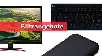 Blitzangebote: Mechanische Tastaturen, Externer Solar-Akku, Monitor u.v.m. heute günstiger