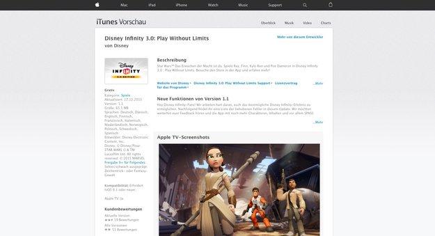 Apple-TV-Apps jetzt endlich mit Browser-Vorschau-Seiten