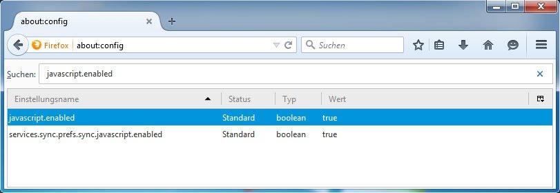 Firefox: Hier könnt ihr schnell Javascript aktivieren.