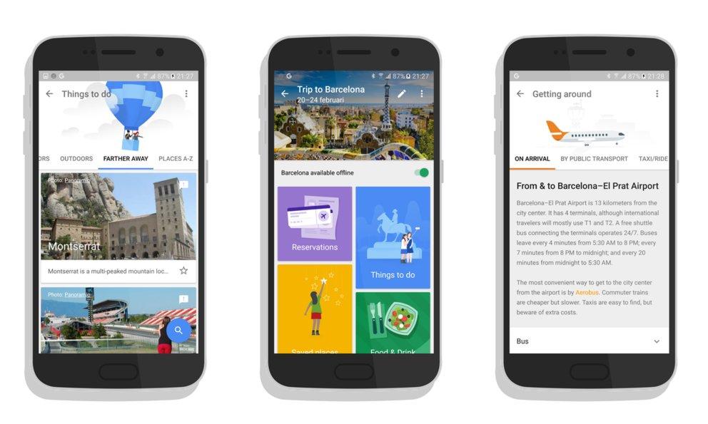 Google Trips (Quelle: Google)