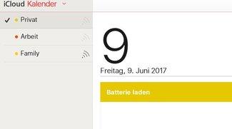iCloud-Kalender freigeben, synchronisieren, exportieren