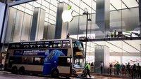 Apple Stores zeigen Grün im Vorfeld des Earth Day