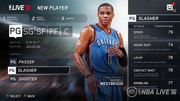 NBA Live 2016: Mehrere Spieler erstellen