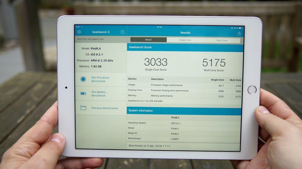 iPad Pro 9.7 Benchmark