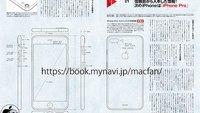 Zeichnung zeigen iPhone 7 Plus mit exakten Ausmaßen des iPhone 6s Plus