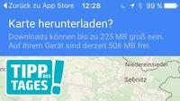 Tipp für iPhone: Offlinekarten herunterladen und verwalten