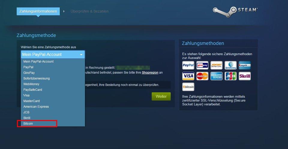 Auf Steam könnt ihr nun auch mit Bitcoins bezahlen.