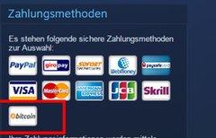 Steam: Mit Bitcoins bezahlen...