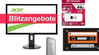 Blitzangebote: Monitore, externe SSD, USB-OTG-Stick u.v.m. heute günstiger