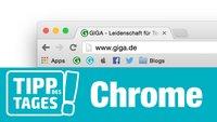 Tipp für Google Chrome: Platz in der Lesezeichenleiste schaffen