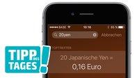 Tipp: Spotlight als Einheits- und Währungsrechner auf iPhone, iPad und Mac nutzen