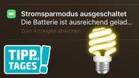 Tipp: Stromsparmodus vom iPhone schneller reaktivieren