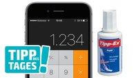 Tipp: Ziffern im Taschenrechner des iPhones löschen