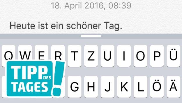 Tipp fürs schnelle Schreiben auf dem iPhone: Punkt mit Leerzeichen mittels Kurzbefehl