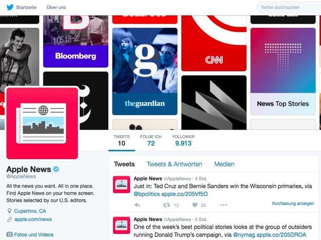Apple News jetzt auch bei Twitter