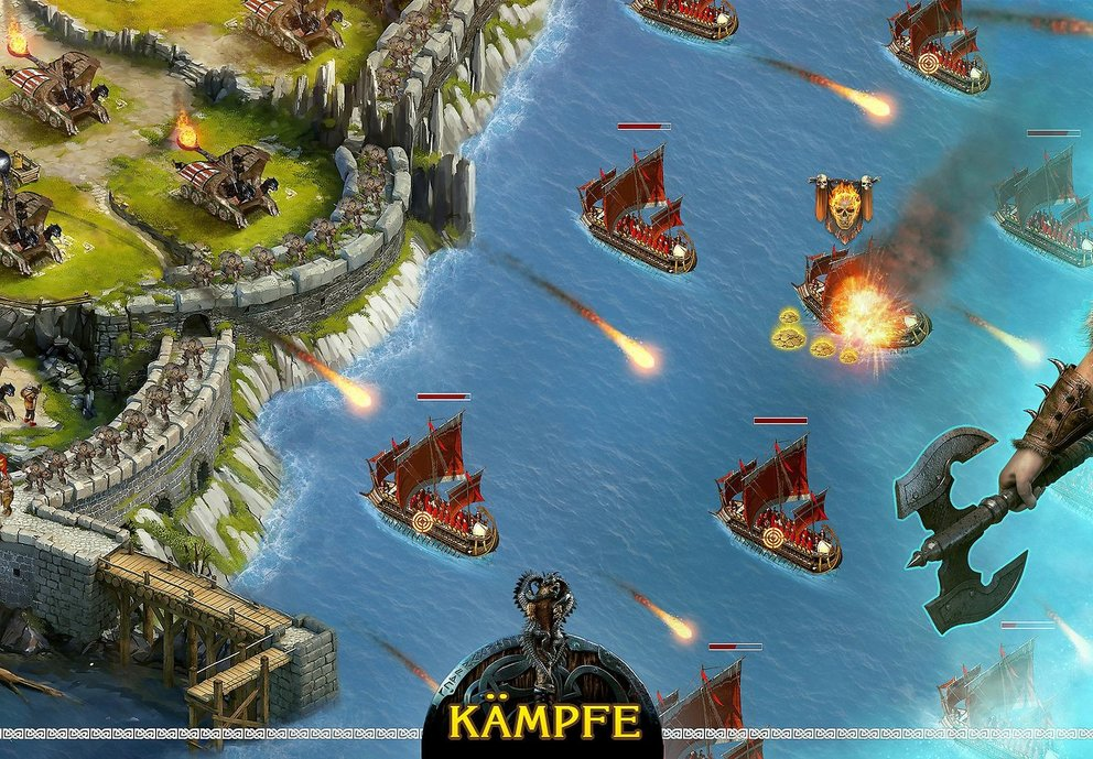 Vikings - War of Clans: Sichert euer Reich und verteidigt es vor Eindringlingen.