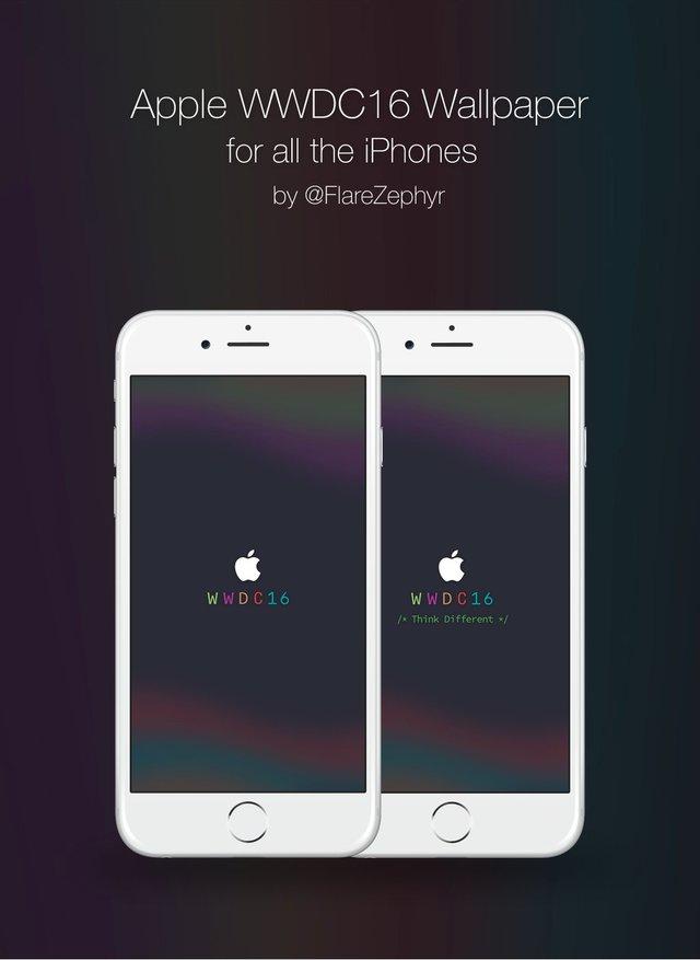 WWDC 2016: Wallpaper (iPhone, IPad, Mac) Und Countdown