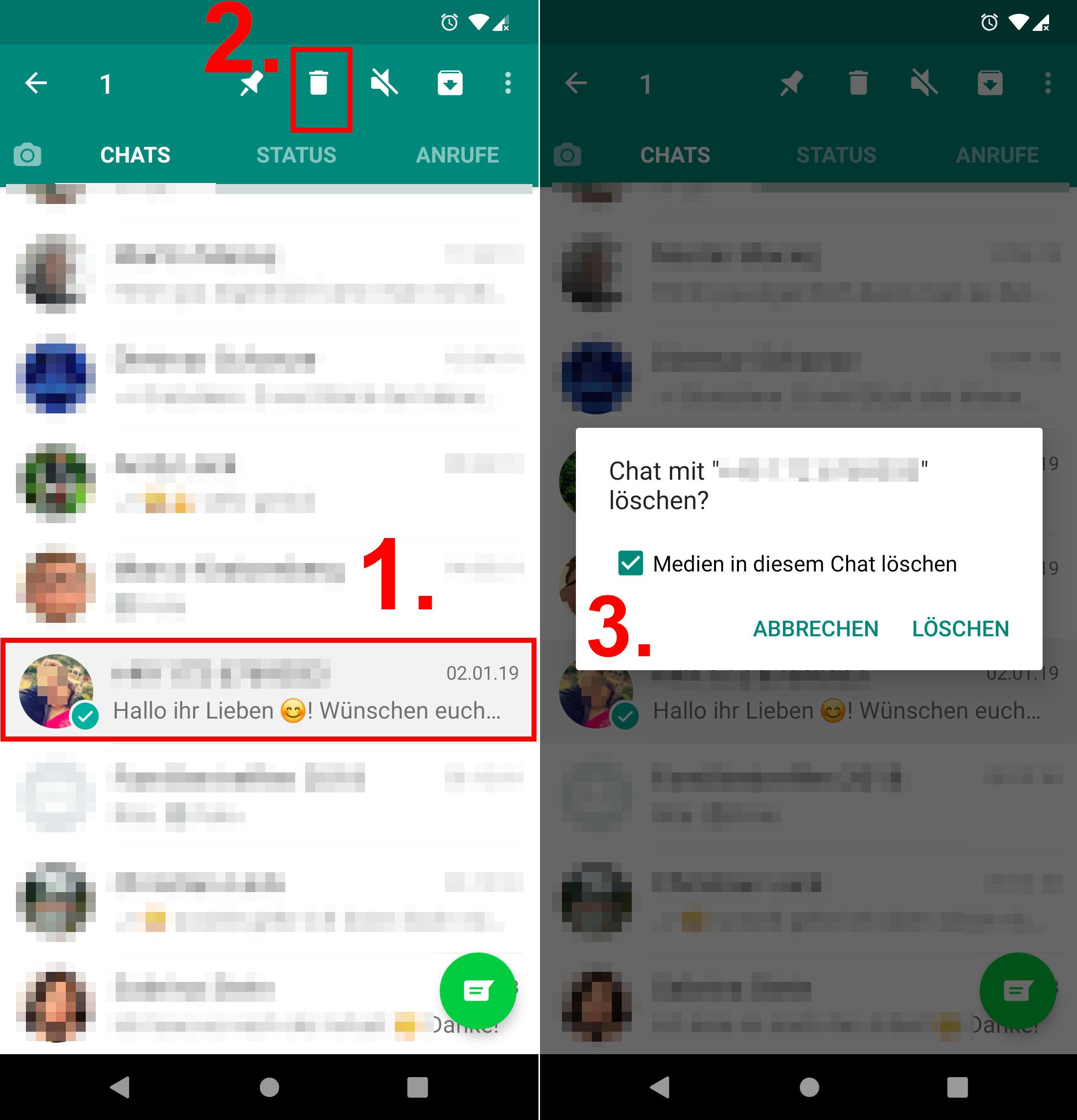 Whatsapp Chat Löschen Das Sieht Der Andere Kontakt