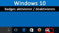 Windows 10: Badges in Taskleiste aktivieren / deaktivieren – So geht's