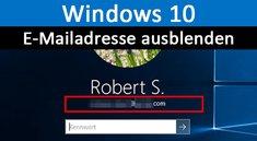 Windows 10: Email bei Anmeldung einblenden / ausblenden – So geht's