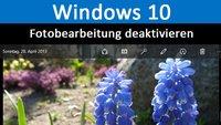 Windows 10: Automatische Fotobearbeitung deaktivieren – So geht's