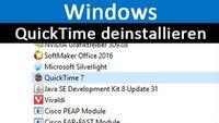 QuickTime deinstallieren in Windows – So geht's