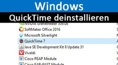 QuickTime deinstallieren in Windows – so geht's