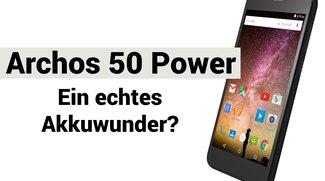 Archos 50 Power vorgestellt: 4.000-mAh-Akku soll mehr als zwei Tage Akkulaufzeit ermöglichen