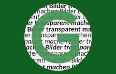 Anleitung: Bilder transparent...