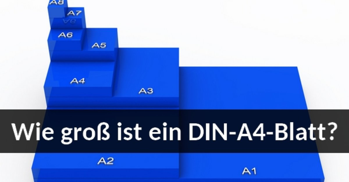Din A4 Maße In Cm Mm Pixeln So Groß Ist Das Papierformat Giga