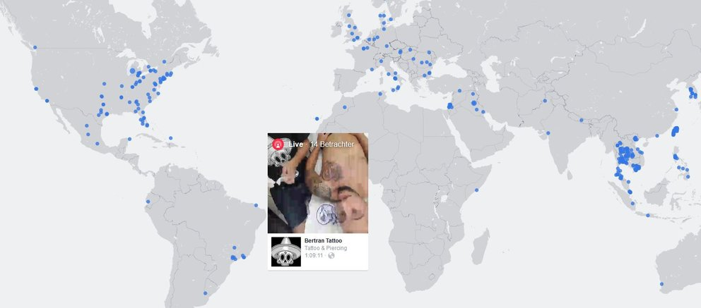 Facebook Live Map Screenshot