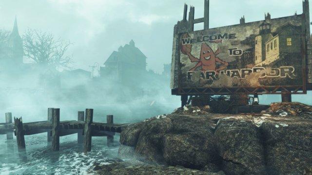 Far Harbor versinkt im Nebel - und ist deswegen besonders atmosphärisch.
