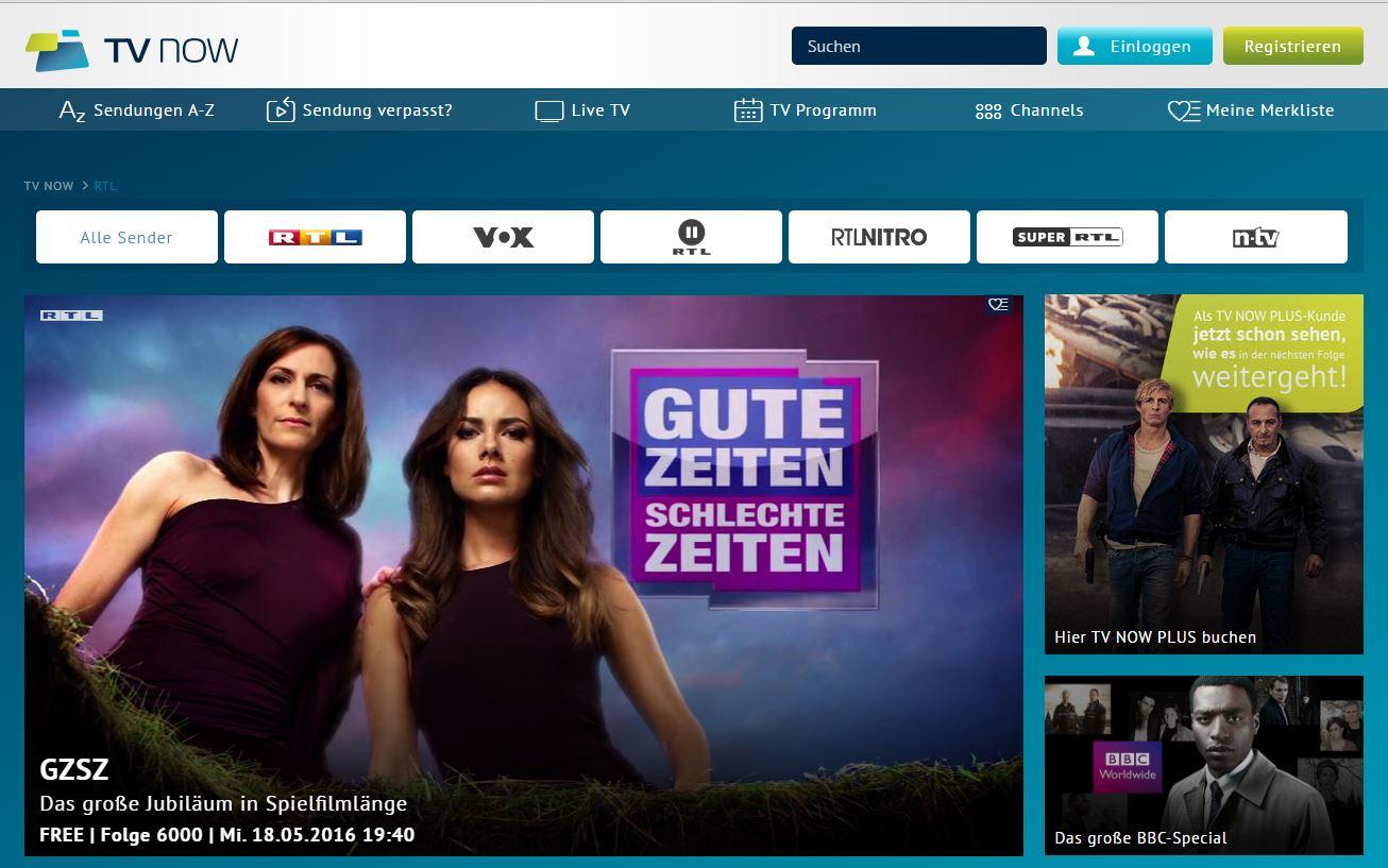 Rtl now kosten angebot und preis f r den video on demand for Mediathek rtl spiegel tv