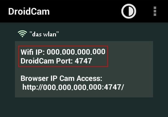 handy als webcam