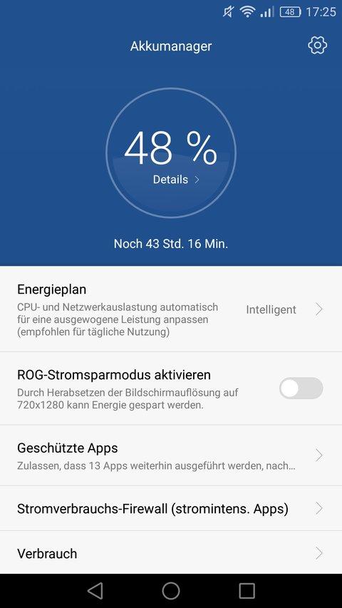 Huawei P9 Test Akkumanager