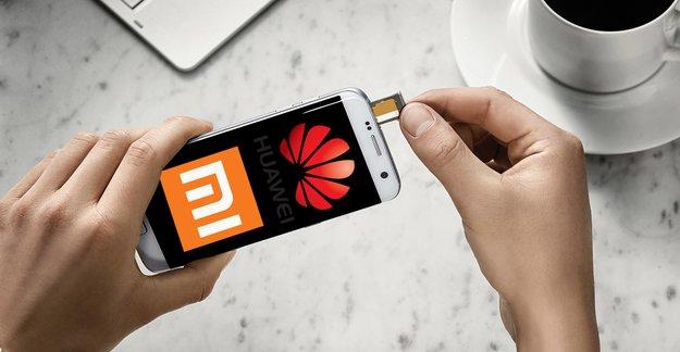 Wie Galaxy edge: Huawei und Xiaomi wollen Curved-Smartphones auf den Markt bringen