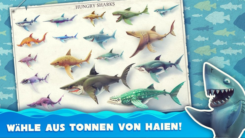Hungry Shark World Alle Haie